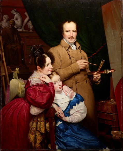 Paul Claude-Michel Carpentier, Self-portrait of the artist and his family in his studio, 1833, oil on canvas, Dallas Museum of Art, Foundation for the Arts Collection, Mrs. John B. O'Hara Fund, 2014.38.FA