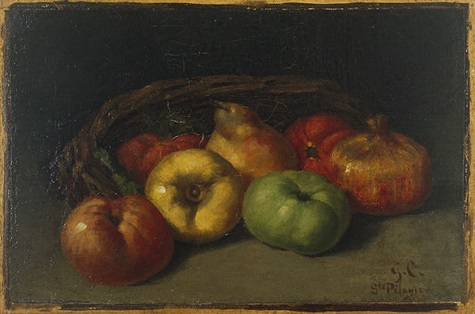 Gustave Courbet, Still Life with Apples, Pear, and Pomegranates, 1871 or 1872, oil on canvas, Dallas Museum of Art, The Wendy and Emery Reves Collection 1985.R.18