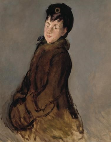 Edouard Manet, Portrait of Isabelle Lemonnier with a Muff, c. 1879, oil on canvas, Dallas Museum of Art, gift of Mr. and Mrs. Algur H. Meadows and the Meadows Foundation, Incorporated, 1978.1