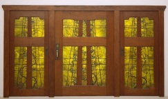 Charles Sumner Greene (American, 1868-1954) and Henry Mather Greene (American, 1870-1954), designersPeter Hall Manufacturing Company and Sturdy-Lange Art Glass Studios, Pasadena, California, manufacturers, Front doors from the Robert R. Blacker House (Pasadena, California), 1907, glass, lead, and teak, Dallas Museum of Art, General Acquisitions Fund with additional support from Friends of the Decorative Arts, 20th-Century Design Fund, Dallas Symposium, Professional Members League, Decorative Arts Acquisition Fund, and Dallas Glass Club 1994.183.A-C