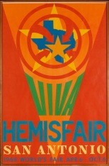 Robert Indiana, Hemisfair, San Antonio, 1968, poster, Dallas Museum of Art, gift of Tucker Willis 1998.101