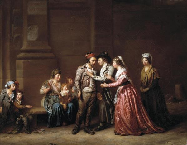 Pierre Nicolas Legrand,  A Good Deed is Never Forgotten, 1794-1795, Dallas Museum of Art, Foundation for the Arts Collection, Mrs. John B. O'Hara Fund