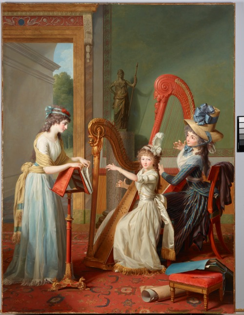 Jean Antoine Theodore Giroust, The Harp Lesson, 1791,Dallas Museum of Art, Foundation for the Arts Collection, Mrs. John B. O'Hara Fund