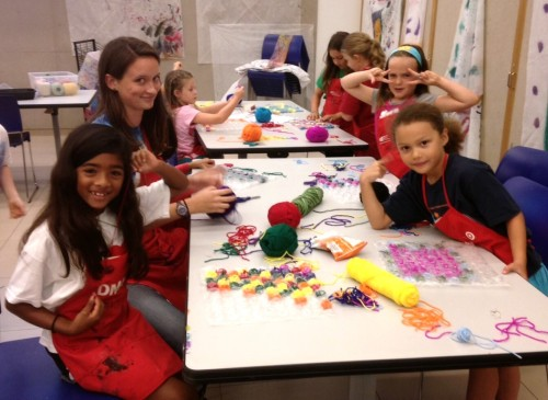 Creating with the Fabric Frenzy summer campers.