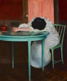 Ramon Casas, Tired (Fatiguée), c. 1895-1900, oil on canvas, Dallas Museum of Art, Foundation for the Arts Collection, Mrs. John B. O'Hara Fund 2013.22.FA