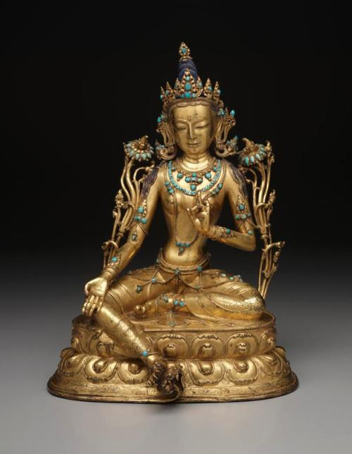 Green Tara, Tibet, 18th century, Gilt copper alloy and turquoise, Dallas Museum of Art, the Cecil and Ida Green Acquisition Fund