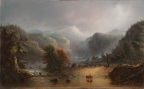 "Alfred Jacob Miller, ""Where the Clouds Love to Rest,"" c. 1850, oil on panel, Dallas Museum of Art, gift of C. R. Smith, 1955.20"