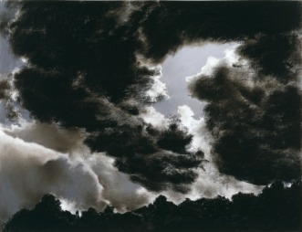 """April Gornik, """"Circling Cloud,"""" 1984, pastel and charcoal on paper, Dallas Museum of Art, Foundation for the Arts Collection, anonymous gift, 1991.120.FA, © 1984 April Gornik"""