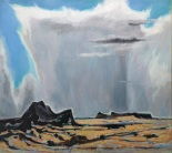 "Otis Dozier, ""Approaching Storm,"" 1977, oil on canvas, Dallas Museum of Art, gift of The Dozier Foundation, 1990.50, © Denni Davis Washburn, William Robert Miegel Jr, and Elizabeth Marie Miegel"