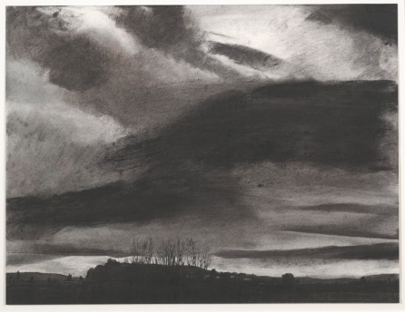 """Danny Williams, """"Storm Light, Beynes,"""" 2007, powdered pigment, charcoal, conté, and ink on paper, Dallas Museum of Art, Texas Artists Fund, 2008.36.1, © Danny Williams"""