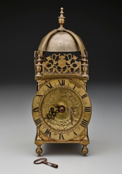 Brass Clock, 17th Century, 1985.R.474.A-D