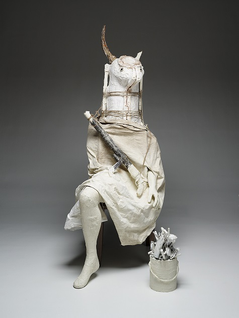 Marcel Dzama, The Minotaur, 2008, Dallas Museum of Art, DMA/amfAR Benefit Auction Fund © Marcel Dzama, 2008.43.2.A-E