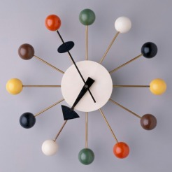 """Ball"" Wall Clock, George Nelson Associates, Howard Miller Clock Company, designed 1947, 1994.255"