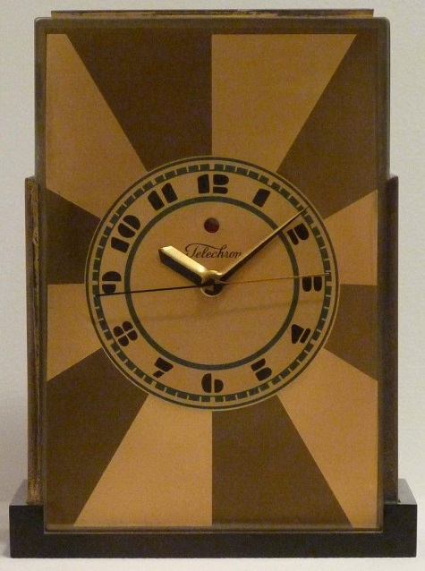 "Paul Frankl, Warren Electric Company, ""Telechron"" mantel clock, designed 1928, Dallas Museum of Art, gift of David T, Owsley via the Alconda-Owsley Foundation, 1994.8"