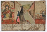 Retablo Dedicated by Nicolasa Morena, 14 Aug. 1912, oil on tin, Dallas Museum of Art, gift of Mr. and Mrs. Stanley Marcus Foundation 1961.83