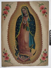 Retablo, n.d., tin, painted, Dallas Museum of Art, gift of Mrs. Arthur Kramer, Sr. 1957.11.1