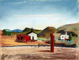 Velma Davis Dozier, Terlingua, n.d., pastel on sandpaper, Dallas Museum of Art, gift of Denni Davis Washburn and Marie Scott Miegel 1990.21 ©Denni Davis Washburn, William Robert Miegel Jr, and Elizabeth Marie Miegel