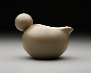"Dorothy C. Thorpe, Crown Lynn Potteries, Dorothy C. Thorpe Inc., ""Monterrey"" pattern creamer, c. 1965, ceramic, Dallas Museum of Art, gift of Carole Stupell, Ltd. 2002.1.26.2"