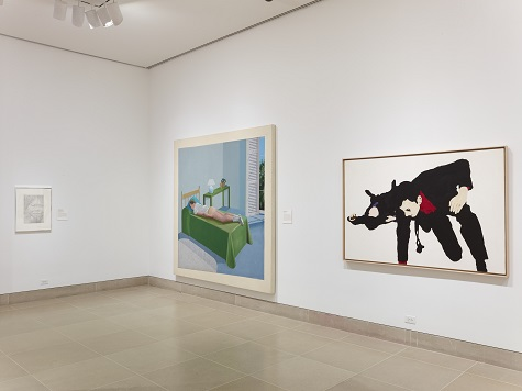 (Rosalyn Drexler's Sorry About That from 1966 on the right.)
