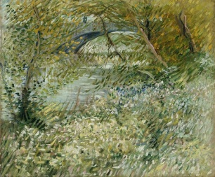 Vincent van Gogh, River Bank in Springtime, 1887, oil on canvas, Dallas Museum of Art, gift of Mr. and Mrs. Eugene McDermott in memory of Arthur Berger 1961.99
