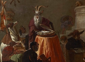 Cornelis Saftleven, College of Animals (detail), 1655, oil on canvas, Dallas Museum of Art, The Karl and Esther Hoblitzelle Collection, gift of the Hoblitzelle Foundation 1987.32