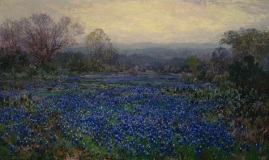 Julian Onderdonk, Untitled (Field of Bluebonnets), 1918-1920, oil on canvas, Dallas Museum of Art, bequest of Margaret M. Ferris 1990.153