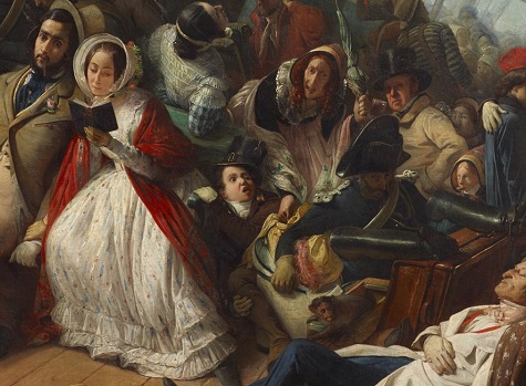 François Auguste Biard, Seasickness on an English Corvette (Le mal de mer, au bal, abord d'une corvette Anglaise) (detail), 1857, oil on canvas, Dallas Museum of Art, gift of J.E.R. Chilton 2011.27