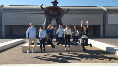 Jumping for the Kimbell Art Museum in Fort Worth