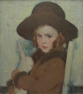 Murray Percival Bewley, Bunny, c. 1921-1922, oil on cardboard, Dallas Museum of Art, Dallas Art Association Purchase 1922.1