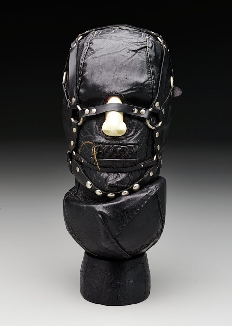 Nancy Grossman, Untitled (Head), 1968, Leather, wood, metal, Dallas Museum of Art, Dallas Art Association Purchase, 1969.8.A-B