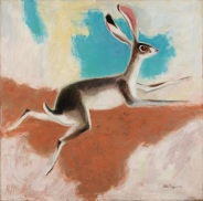 Otis Dozier, Jack Rabbit, 1972, oil on canvas, Dallas Museum of Art, gift of The Dozier Foundation 1990.49