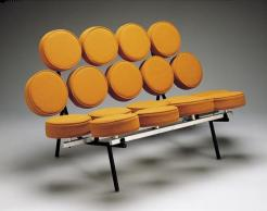 """Marshmallow"" sofa, Irving Harper, George Nelson Associates, c. 1954-1955, Dallas Museum of Art, 20th-Century Design Fund"