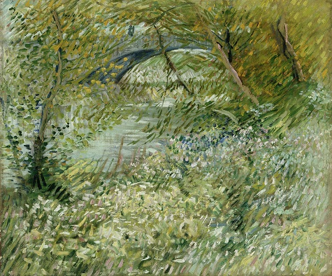 Vincent van Gogh, River Bank in Springtime, 1887,oil on canvas,Dallas Museum of Art, gift of Mr. and Mrs. Eugene McDermott in memory of Arthur Berger, 1961.99