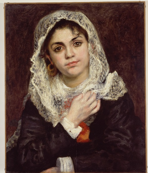 Pierre-Auguste Renoir, Lise in a White Shawl, c. 1872, oil on canvas, Dallas Museum of Art, The Wendy and Emery Reves Collection 1985.R.58
