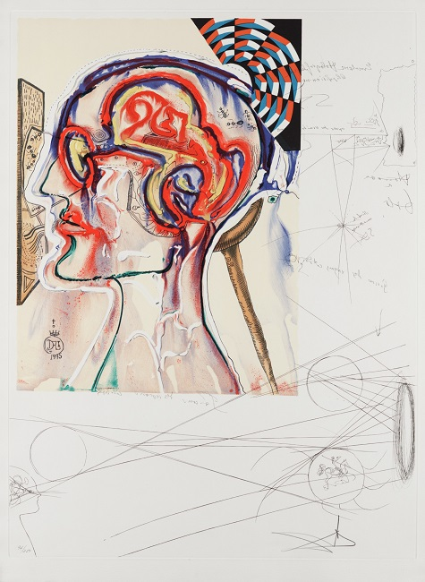 Salvador Dalí, Spectacles with Holograms and Computers for Seeing Imagined Objects, 1976, Etching, Drypoint, Lithograph, Silkscreen, and Collage, Dallas Museum of Art, gift of Lois and Howard B. Wolf © 2008 Salvador Dalí, Gala-Salvador Dalí Foundation/Artists Rights Society (ARS), New York