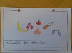 """Thankful for tasty fruit!"""