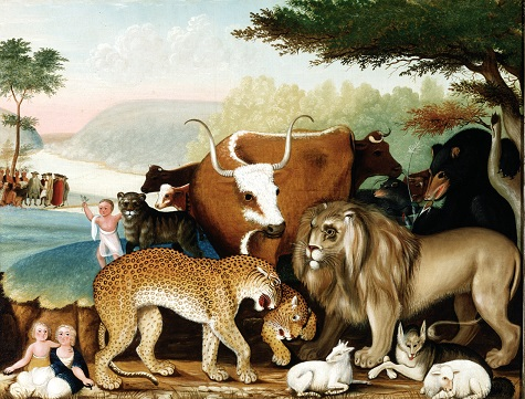 Edward Hicks , The Peaceable Kingdom, c. 1846-1847, oil on canvas, Dallas Museum of Art, The Art Museum League Fund 1973.5