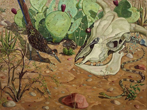 Fred Darge, Survival of the Fittest, c. 1941, oil on canvas, Dallas Museum of Art, anonymous gift 1944.13