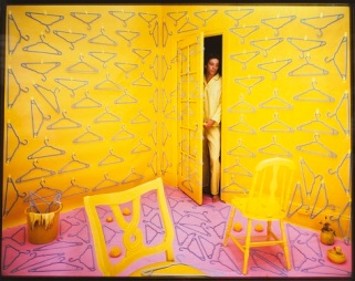 "Sandy Skoglund, ""Hangers,"" 1979, color photograph, Dallas Museum of Art, gift of Susan Teegardin, 1984.32"
