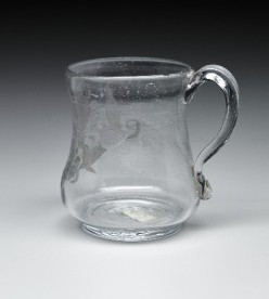 Beer Mug with Crystal Handle, 19th Century, crystal, Dallas Museum of Art, The Wendy and Emery Reves Collection, 1985.R.309