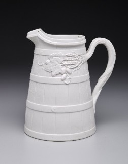 John Ridgway & Co., Beer pitcher, 1850, stoneware, molded, Dallas Museum of Art, gift of Lady Primrose's, Dallas, 1995.179
