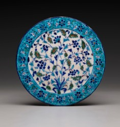 Plate, 18th century, located in the South Asian art gallery, Dallas Museum of Art, bequest of Sarah Dorsey Brown Hudson.