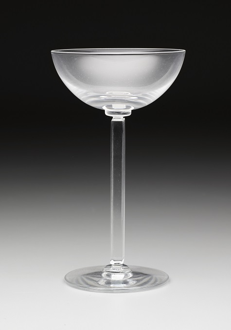 """Embassy"" Shape Wine Glass, Edwin W. Fuerst, Walter Dorwin Teague, Libbey Glass Company, 1939, glass, gift of The Dallas Antiques and Fine Arts Society, 1989.18.2"