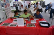 Visitors creating exvotos at AVANCE Latino Festival.