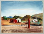 "Velma Davis Dozier, ""Terlingua,"" n.d., pastel on sandpaper, Dallas Museum of Art, gift of Denni Davis Washburn and Marie Scott Miegel, 1990.21"