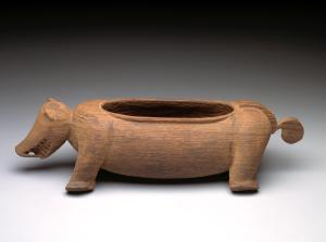 Pig-form container, Borneo: Kayan or Kenyah peoples, 19th century; ironwood; Dallas Museum of Art, The Eugene and Margaret McDermott Art Fund, Inc.