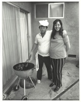 "Bill Owens, ""Sunday afternoon we get it together. I cook the steaks and my wife makes the salad,"" 1971, gelatin silver print, Dallas Museum of Art, Lay Family Acquisition Fund, 2005.103.1, © Bill Owens"