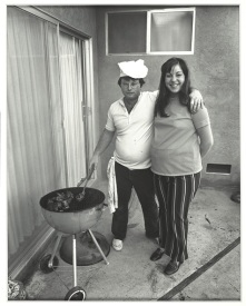 """Bill Owens, """"Sunday afternoon we get it together. I cook the steaks and my wife makes the salad,"""" 1971, gelatin silver print, Dallas Museum of Art, Lay Family Acquisition Fund, 2005.103.1, © Bill Owens"""