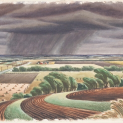 Edward Bearden, Storm on the Plains, 1944, Dallas Museum of Art, Ted Dealey Purchase Prize, Fifteenth Annual Dallas Allied Arts Exhibition, 1944