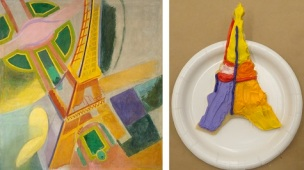 """Robert Delaunay, """"Eiffel Tower,"""" 1924, oil on canvas, Dallas Museum of Art, gift of the Meadows Foundation, Incorporated, 1981.105, © L & M Services B. V., Amsterdam"""
